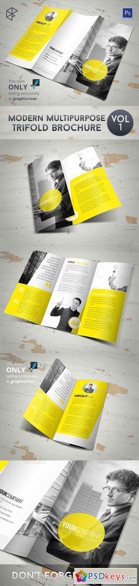 Modern Multipurpose Trifold Brochure 7874112