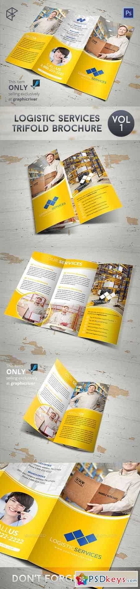 Logistic Services Tri-Fold Brochure 7829714