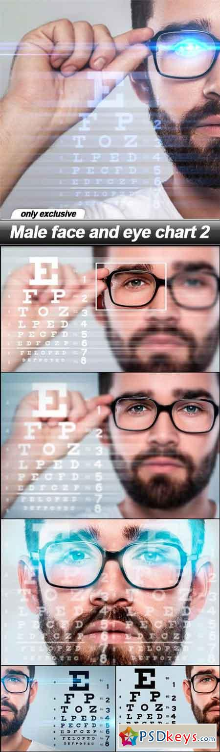 Male face and eye chart 2 - 6 UHQ JPEG