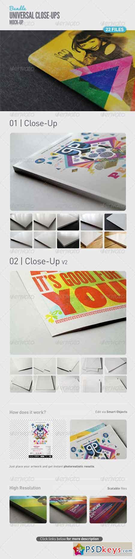 Universal Close-Up Mock-Up Bundle 5107291