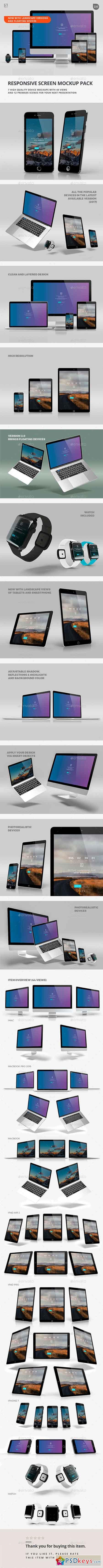 Responsive Screen Mockup Pack 19402690