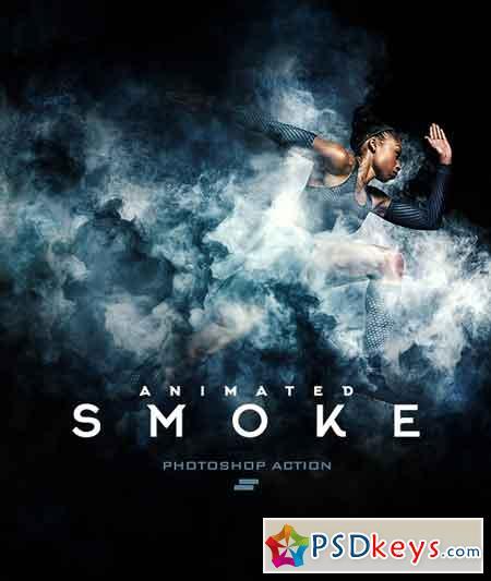 Gif Animated Smoke Photoshop Action 19610841