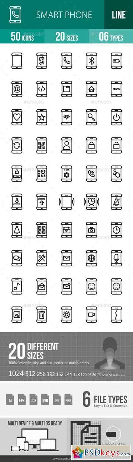 Smartphone Line Icons 17953438