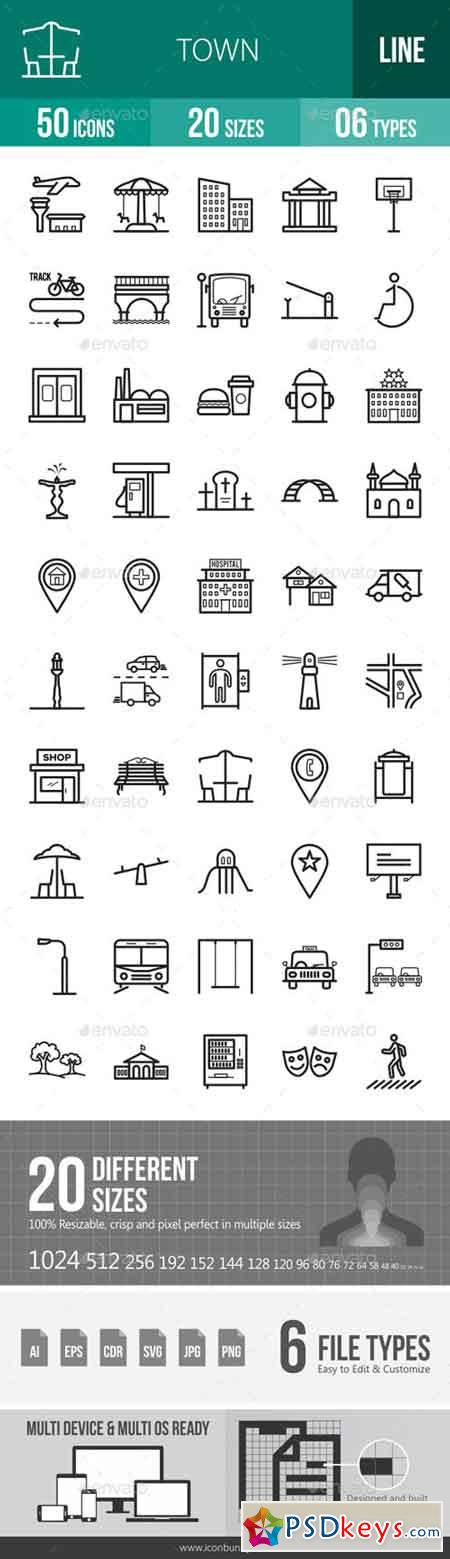Town Line Icons 18050184