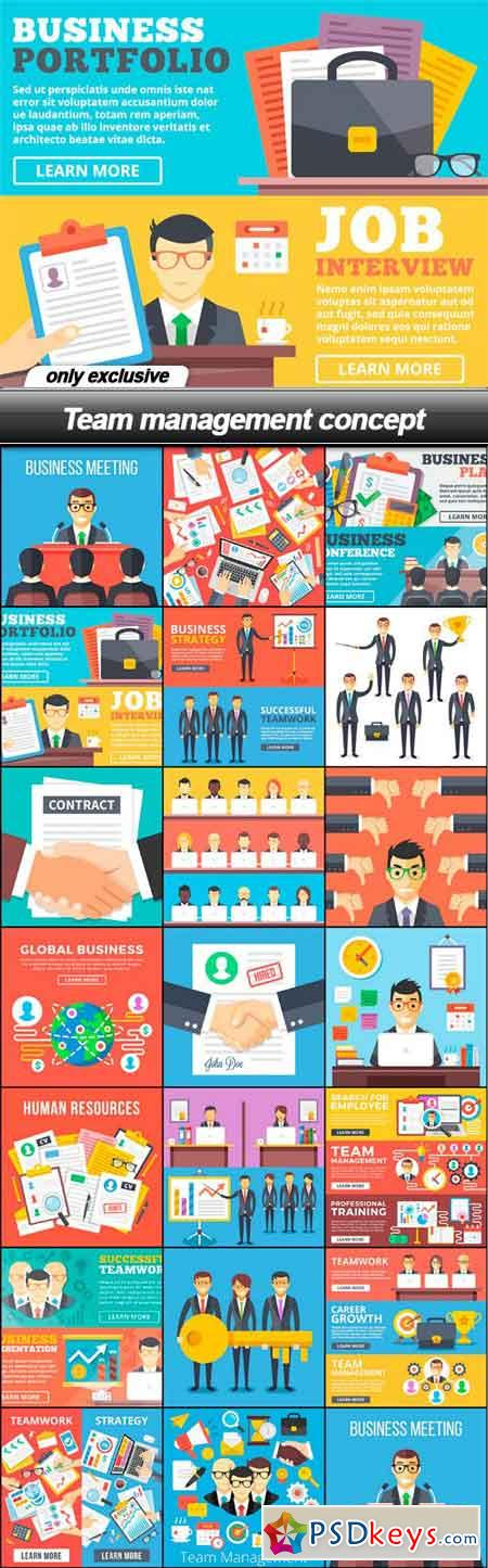 Team management concept - 20 EPS