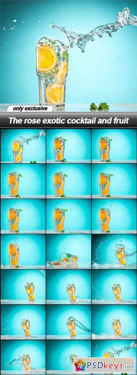 The rose exotic cocktail and fruit - 20 UHQ JPEG