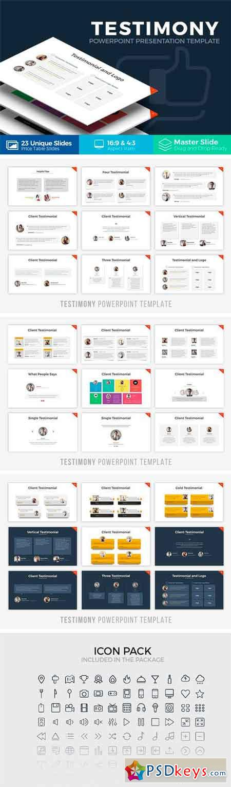 Testimony Powerpoint Template 1283419
