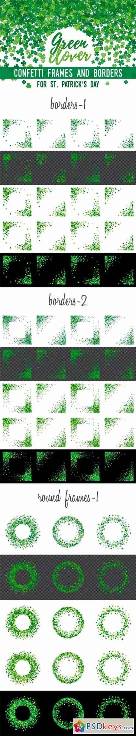 Green Clover Frames and Borders 1341824