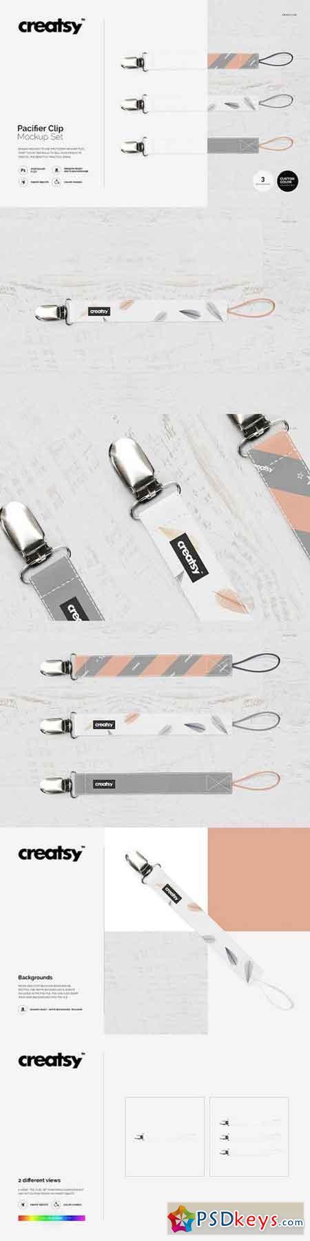 Pacifier Clip Mockup Set 1361495