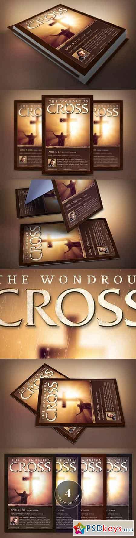 Wonderful Cross Flyer Template 1372420