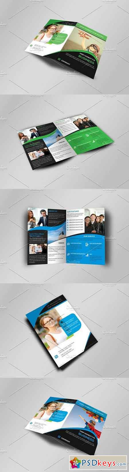 Corporate Bi-Fold Business Brochure 336636