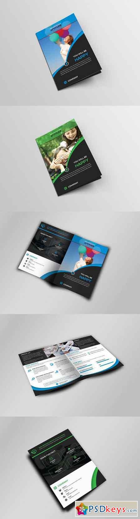 Corporate Business Bi-Fold Brochure 334599