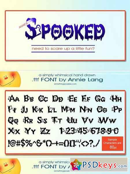 Annie's Spooked Font 1164380