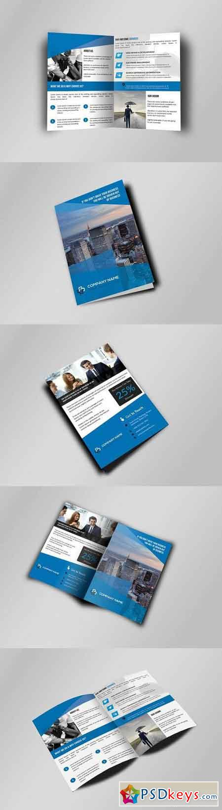Bi-Fold Business Brochure Template 619042