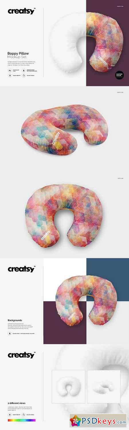 Boppy Pillow Mockup Set 1185163