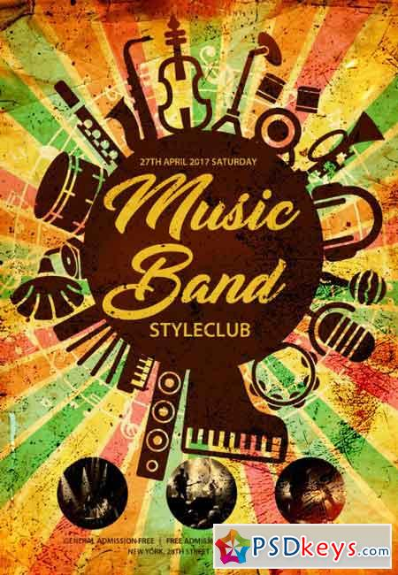 Music Band Psd Flyer Template  Free Download Photoshop Vector Stock