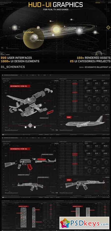 HUD - UI Graphics for FILM, TV and GAMES 19580362 - After Effects Projects