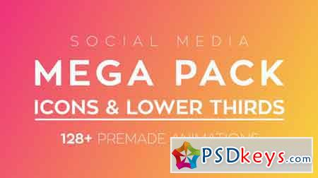 Social Media Icons & Lower Thirds Pack - After Effects Projects