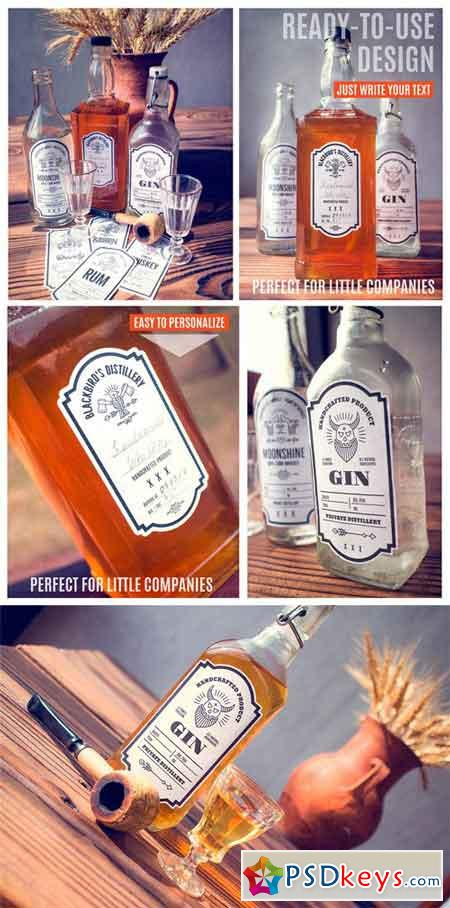 Distilling Industry Vintage Labels 1359791