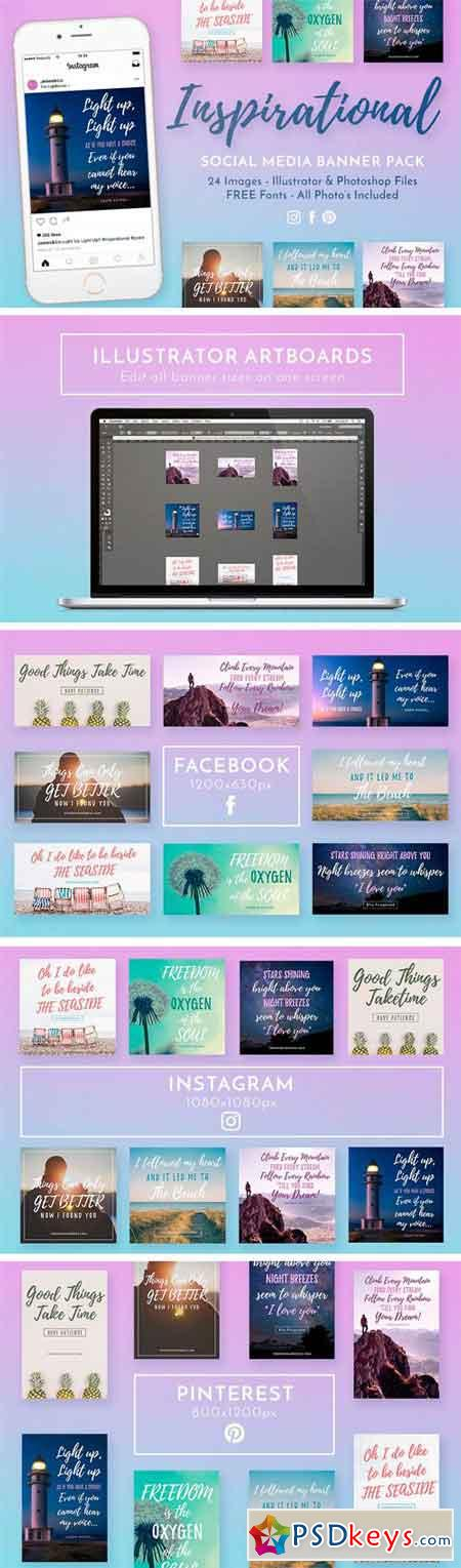 Inspirational Social Media Banners 1359517