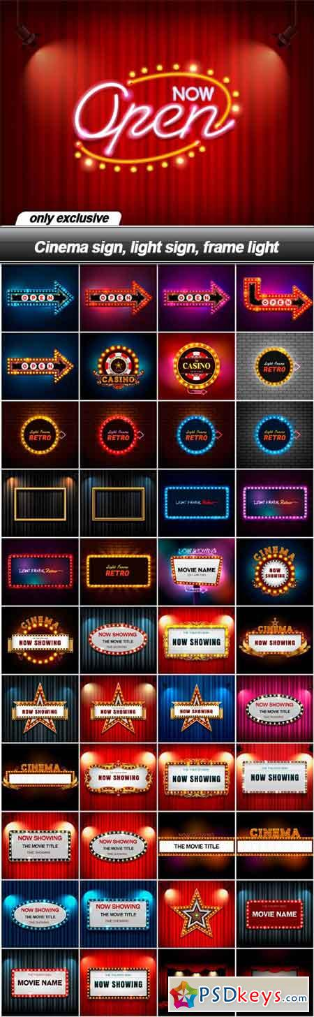 Cinema sign, light sign, frame light - 45 EPS