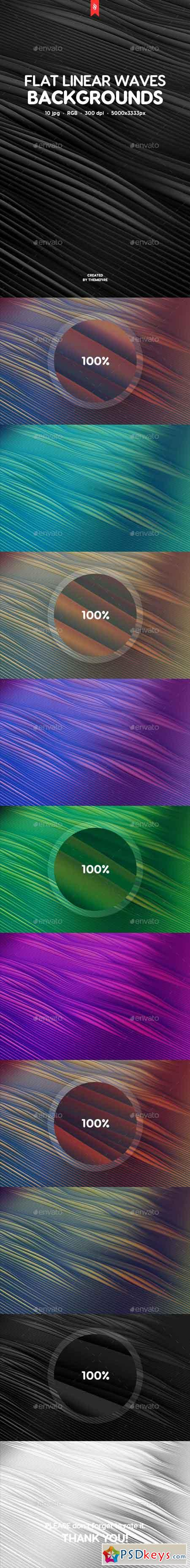 Flat Linear Waves Backgrounds 19727170