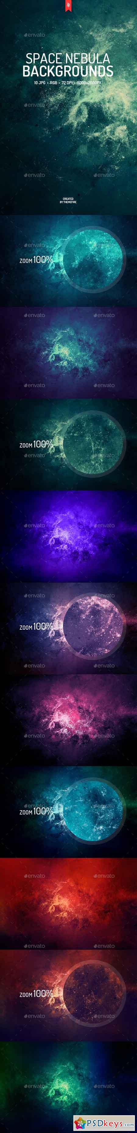 Space Nebula Backgrounds 19330736