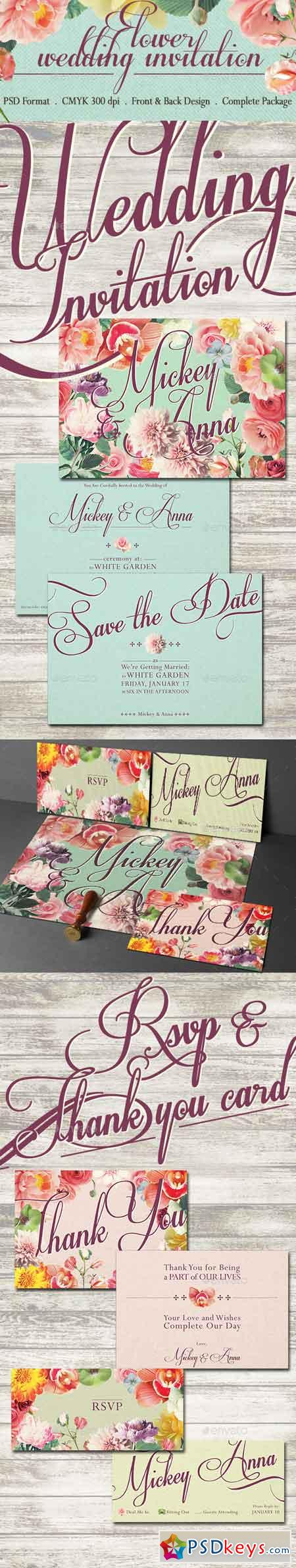 Sweet Flower Wedding Invitation 10957312