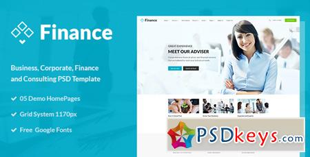 Finance - Business and Finance Corporate PSD Template 15434658