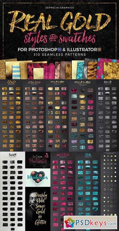 300+ Gold Glitter & Foil Styles 1372410 » Free Download Photoshop