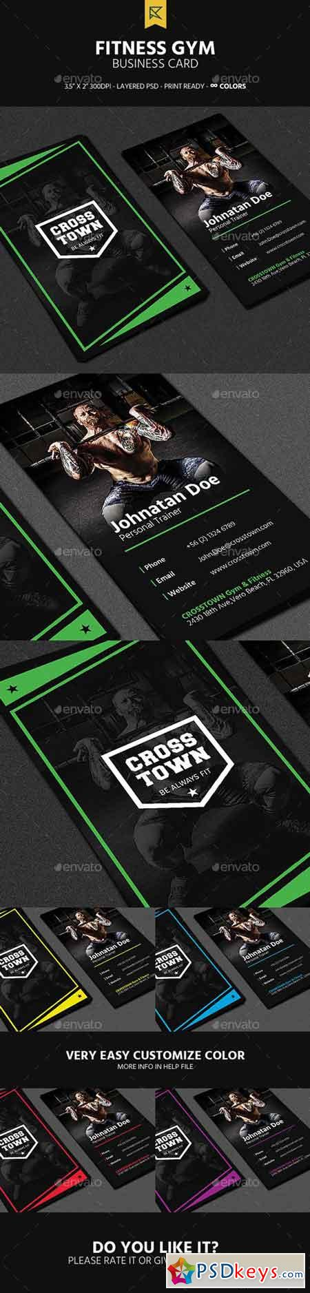 Fitness Gym Business Card 19687903 » Free Download Photoshop ...