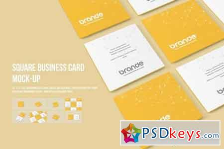 Square Business Card Mock-Ups