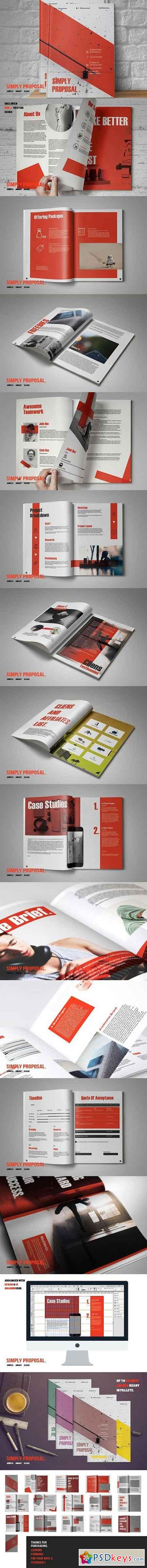 Simply Proposal Template 1359809