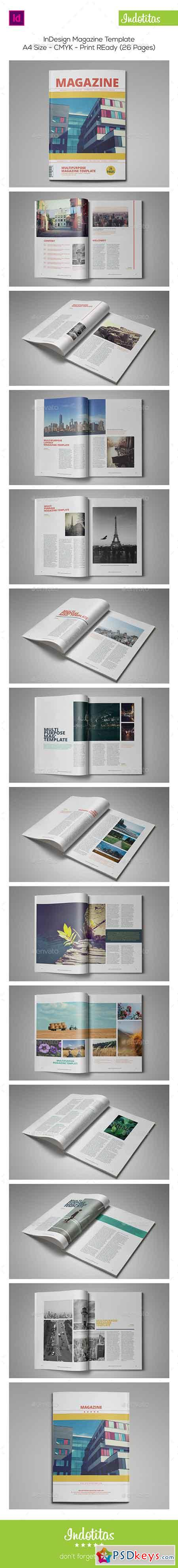 26 Pages InDesign Magazine Template 9171577