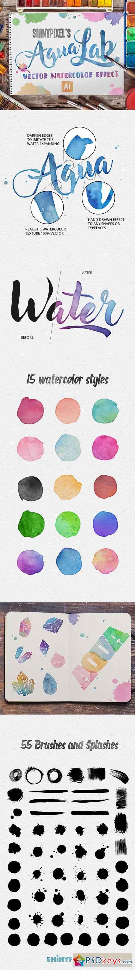 AquaLab - 100% Vector Watercolor Effect 19692215