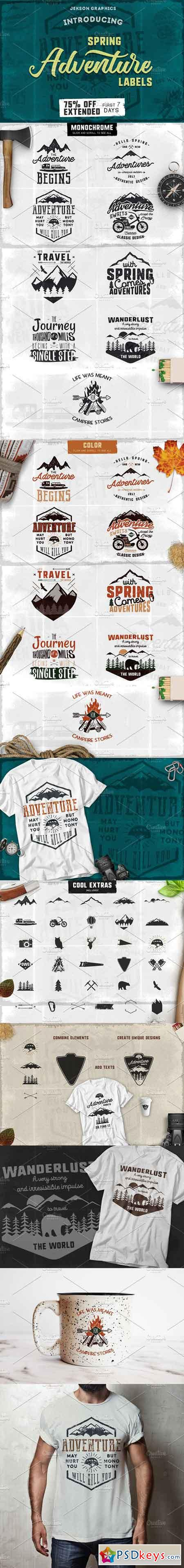 Spring Adventure Motivational Labels 1419308