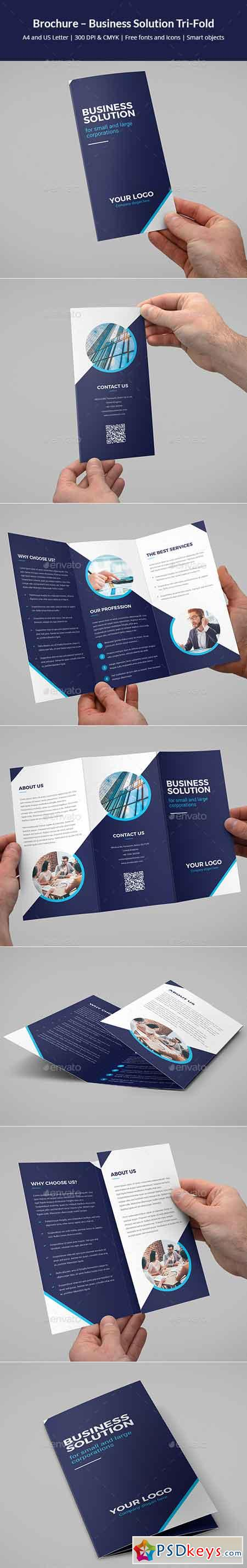 Brochure  Business Solution TriFold   Free Download