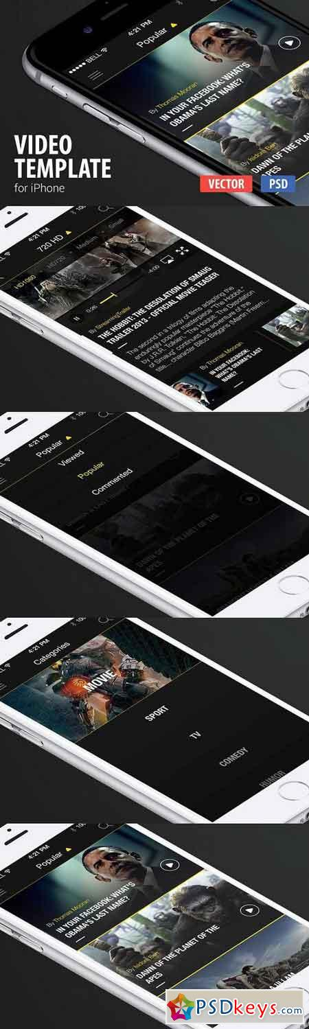 Video App Template for iPhone 330942