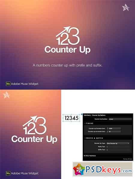 Counter Up - Adobe Muse Widget 1077519