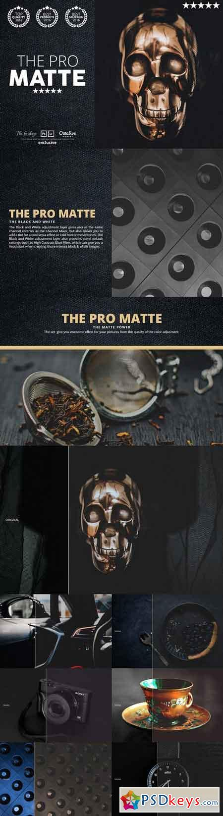 The PRO MATTE 80 Photoshop Actions 1078268