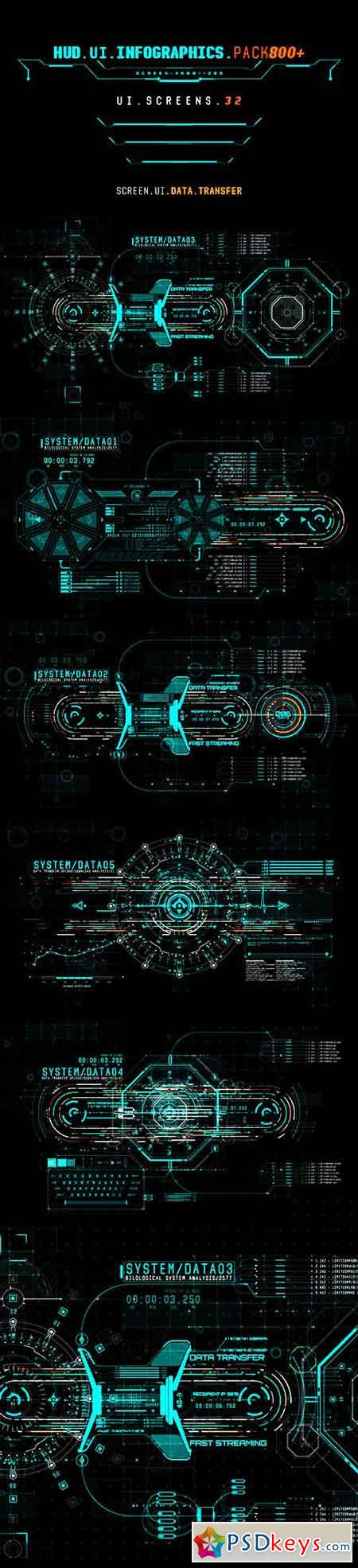 HUD UI Infographics Pack 800+ 19616723 - After Effects Projects