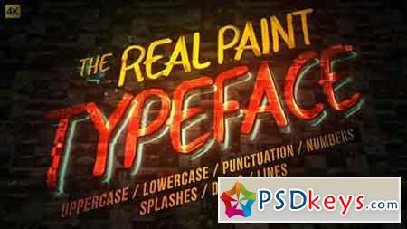 Real Paint Typeface Kit 19688638 - After Effects Projects