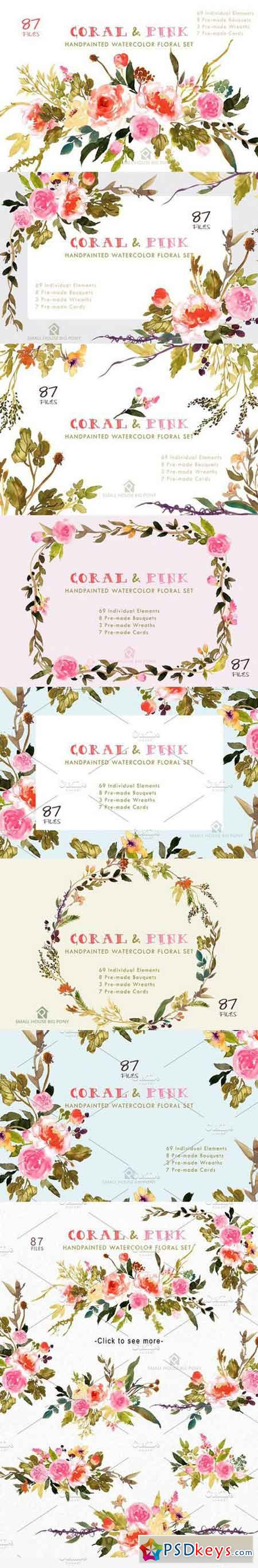 Coral & Pink - Flower Collection 1354647