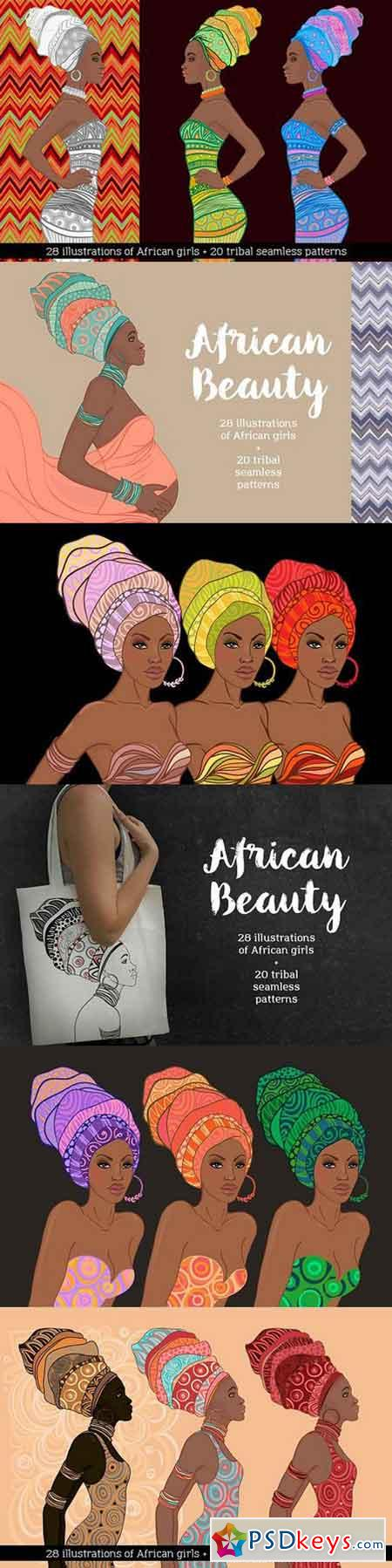 African Beauty Vector Set 1363396