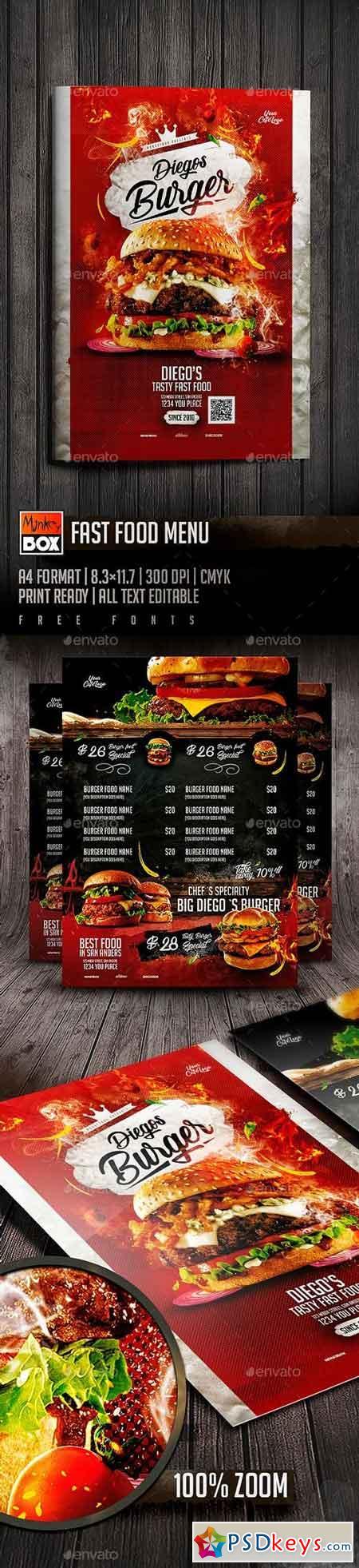 Fast Food Menu 19694656