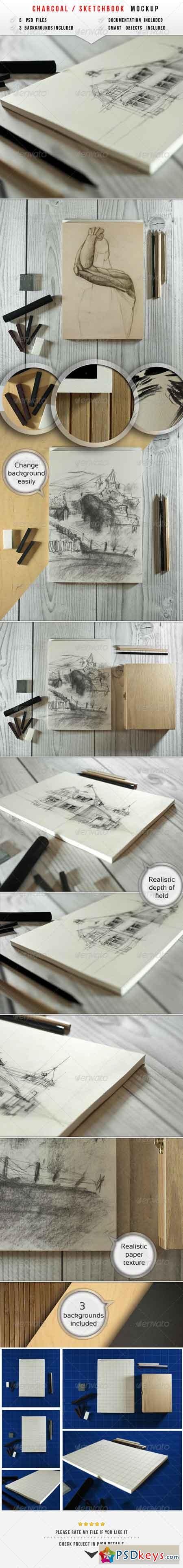 Sketch & Charcoal Mockup 6285849
