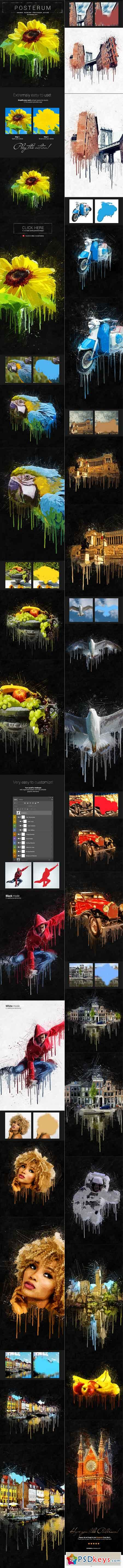 Posterum - Grunge Painting Photoshop Action 19648349