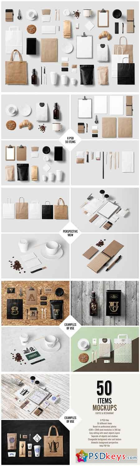 Coffee Stationery Branding Mock-Up 78971