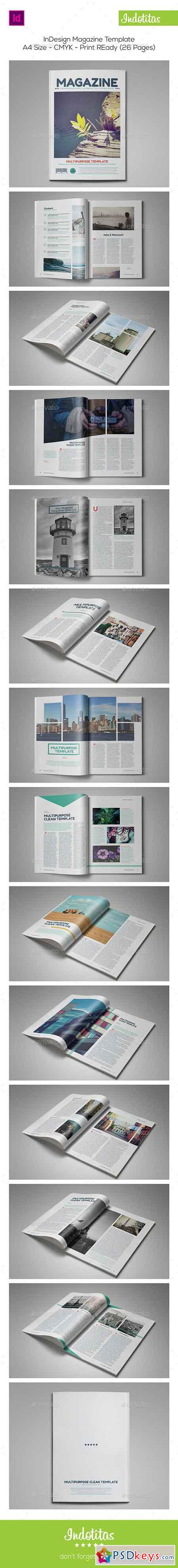 InDesign Magazine Template 9272416