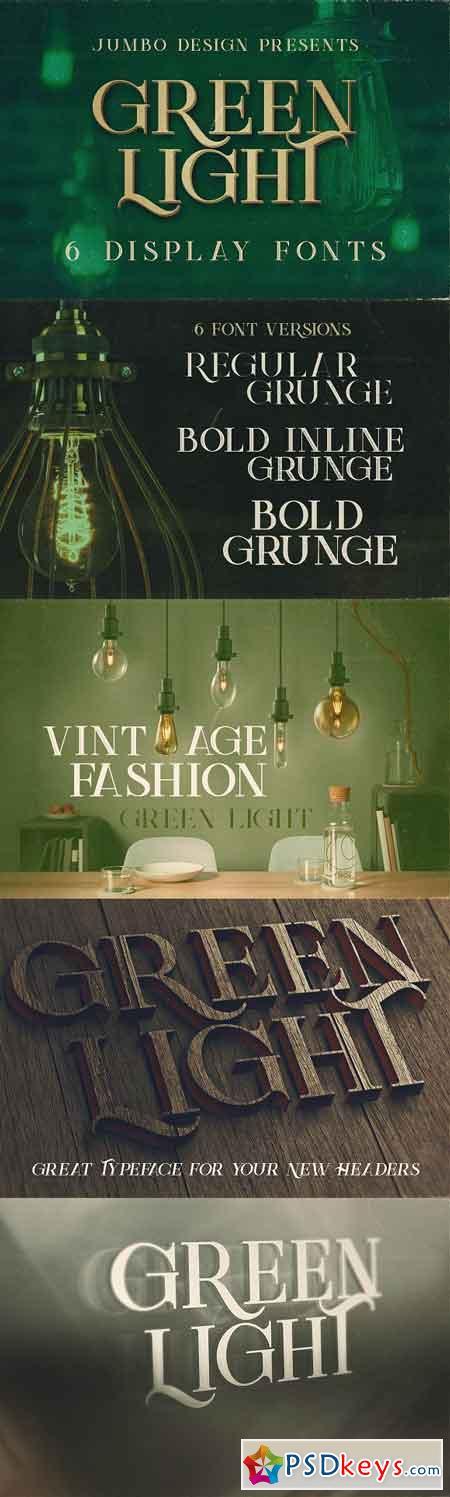 Green Light - Vintage Style Font 1323917